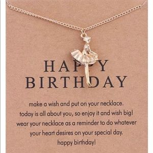 Jewelry - GOLD DIPPED HAPPY BIRTHDAY DANCER BALLERINA MINIMA